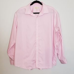 Pink White Stripe Dress Shirt 18.5 slim fit 34/35